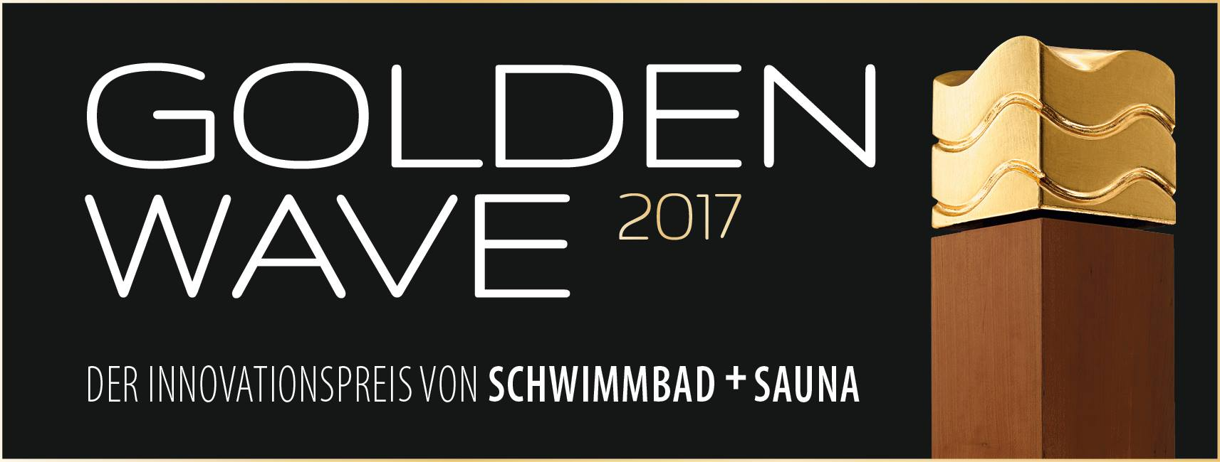 The Golden Wave 2017 - The innovation prize of Schwimmbad + Sauna